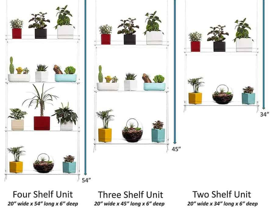 indoor vertical garden hanging window plant shelves