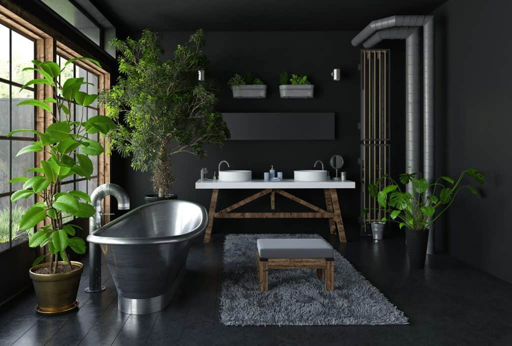 Indoor garden design ideas: bathroom garden