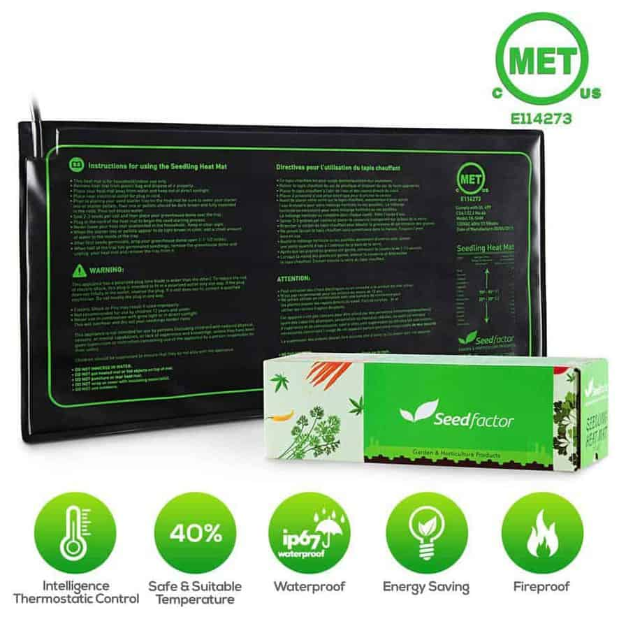met certified seedling heat mat