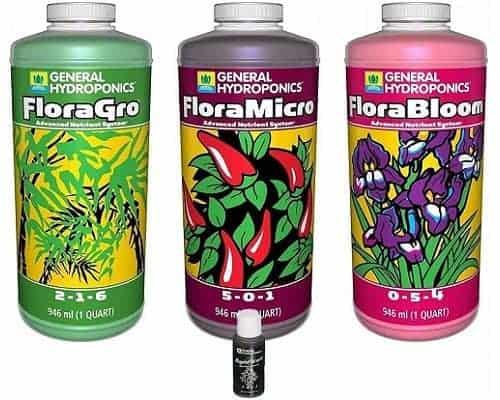 General Hydroponics FloraGro FloraBloom FloraMicro Fertilizer