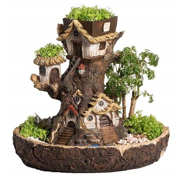 Fairy Garden Stump Planter