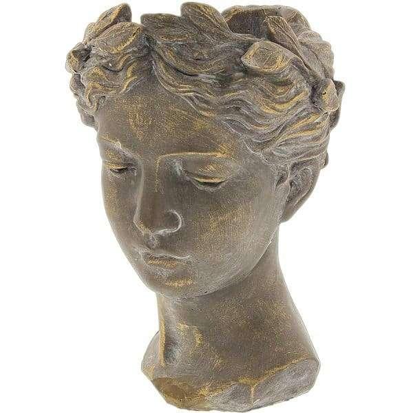 Roman Head Statue Planter