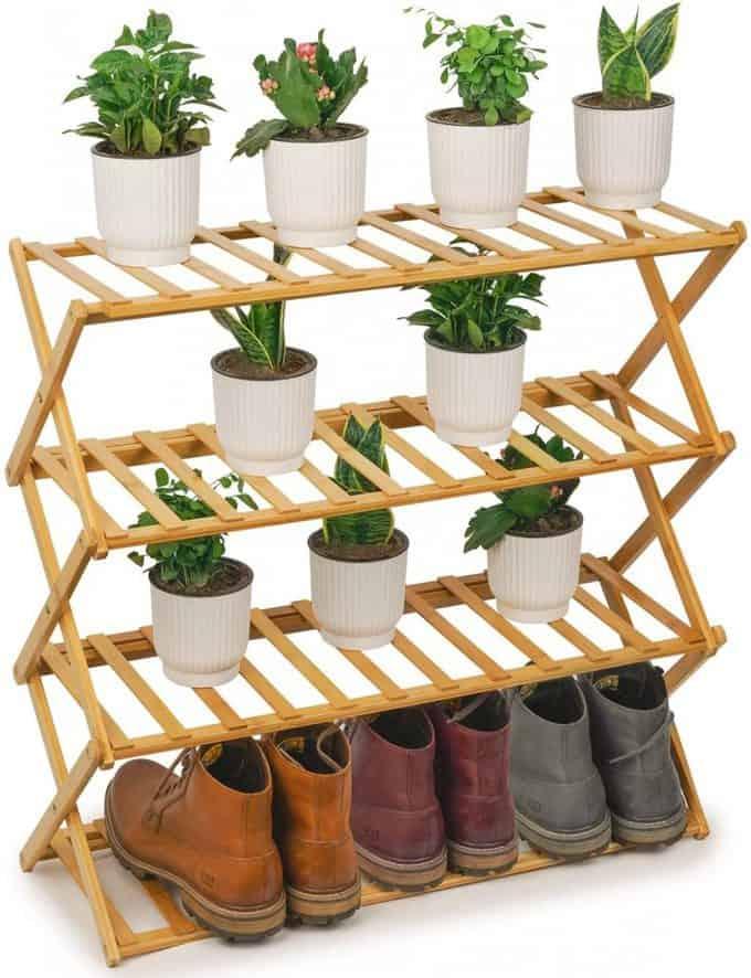 Plant container ideas - shoe rack