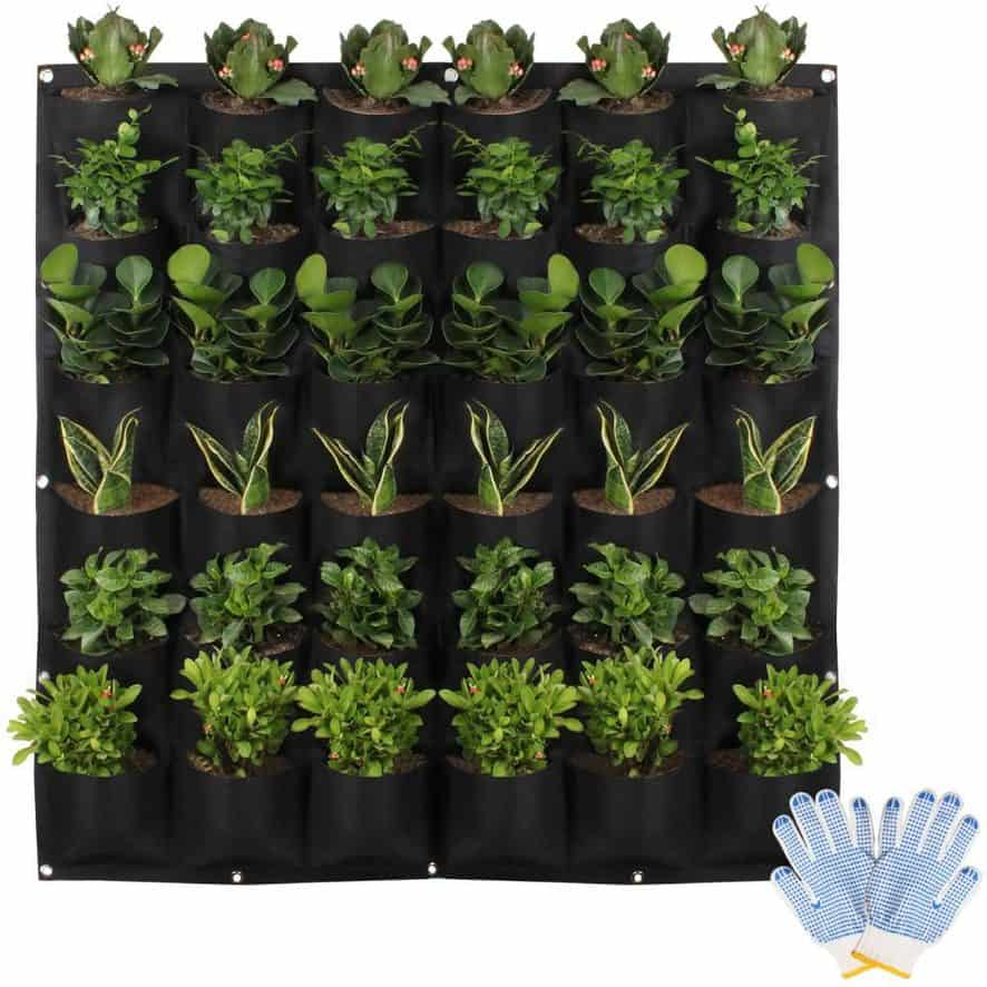 Vertical planter container idea